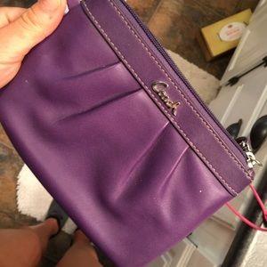 LIKE NEW Coach Purple Wristlet